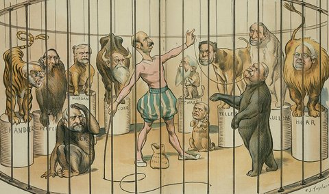 A political caricature of the United States Senate from 1894 Credit: Library of Congress