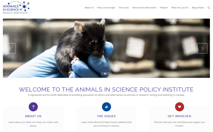 Animals in Science Policy Institute - homepage